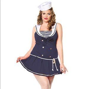 Anchors Aweigh Sexy Sailor Halloween Costume 1x/2x
